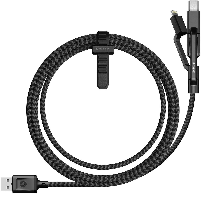 Câble Universel Ultra Robuste Zebra Micro -USB/ USB-C/ Ligthning NOMAD