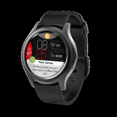 ZeRound3 montre connectée avec écran tactile rond AMOLED – noir de Mykronoz