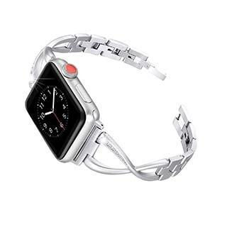 Bracelet Elire de 44/42 mm pour montre Apple, argent de Uunique