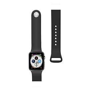 Bracelet en silicone de 44/42 mm pour montre Apple noir de Naztech