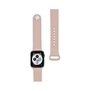 Bracelet en silicone de 44/42 mm pour montre Apple (Pink Sand), rose de Naztech
