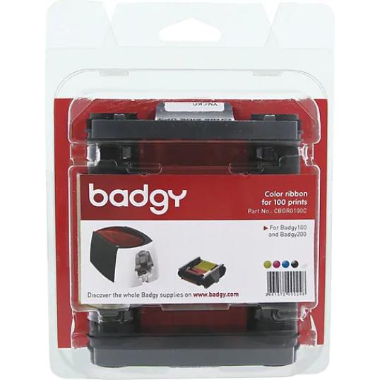 Ruban couleur 100 impressions - Badgy100 & Badgy200 CBGR0100C de EVOLIS