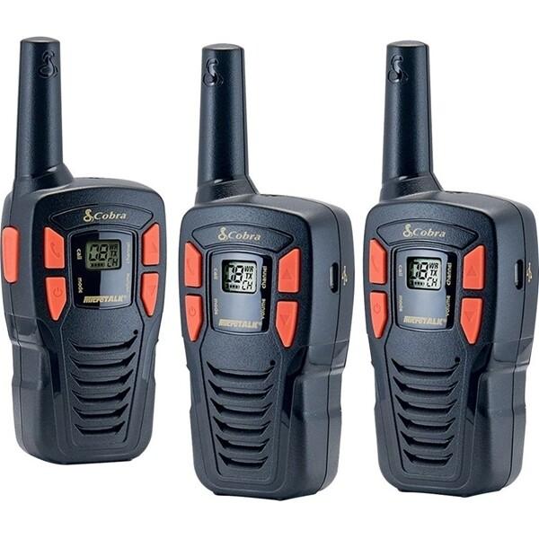 "Radios bidirectionnelles ""Walkie-Talkie"" ACXT145-3 GMRS  paq. 3 de Cobra"