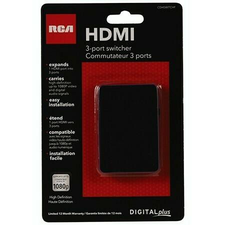 Commutateur 3 entrées/1 sortie HDMI de RCA