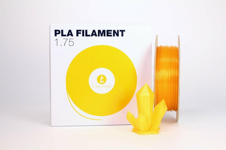 Filament pla Transparent Honey Orange 1.75mm de Tinkerine