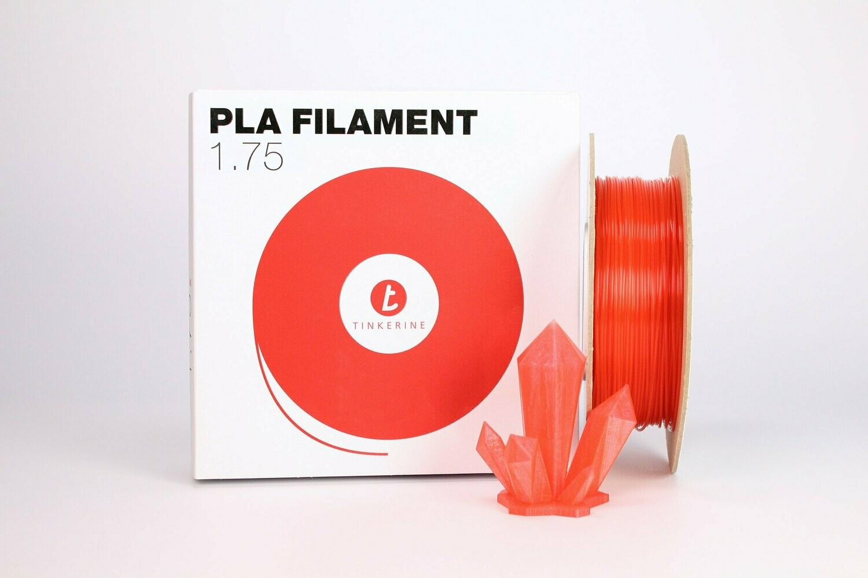 Filament pla Transparent pomme grenade rouge 1.75mm de Tinkerine