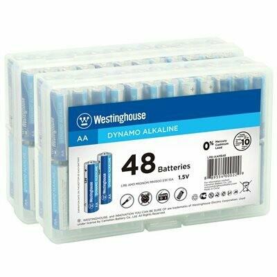 Batteries AA pq: 96 / 2 boîtes plastique de 48 de Westinghouse
