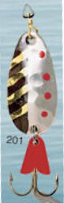Cuillère à support en or 3/8 oz Leurre de pêche modèle 201 de Egb America