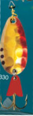 Cuillère à support en or 3/8 oz Leurre de pêche modèle 330 de Egb America