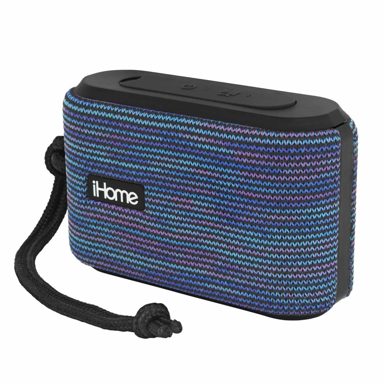 Haut-Parleur Résistant à L'eau Portable BT avec Haut-Parleur Bleu de iHome