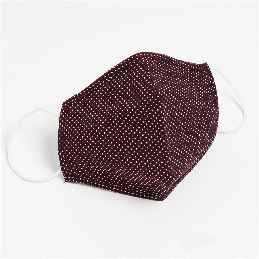 Masques lavables et réutilisables en tissu non-médical (100% Coton) Bourgogne (Paquet de 5) de Hörst