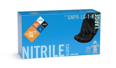 Gants noir nitrile large N2433 boîte de 100 de The Safety Zone ®