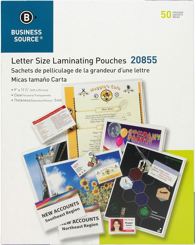 Pochettes de plastification transparentes de 5mm pq: 50 de Business Source