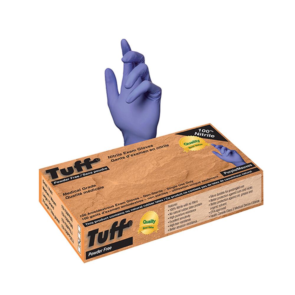 Gants nitrile bleu bt:100 large de Tuff
