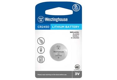 Piles bouton au lithium CR2450 3.0V de Westinghouse