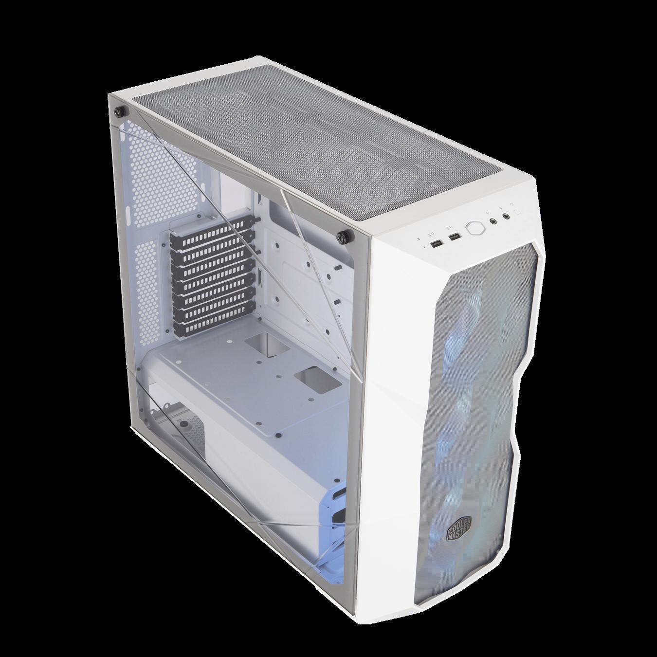 Boîtier d'ordinateur MasterBox TD500 Mesh CSE-MCB-D500D-WGNN-S01 avec contrôleur couleur Blanc de CoolMaster