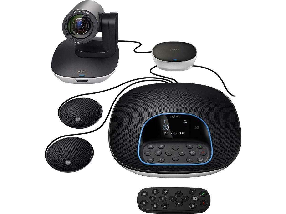 Système visioconférence GROUP + extenssion microphones 960-001060 de Logitech