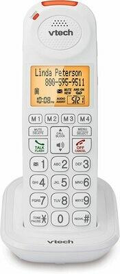 Téléphone combiné sans fil SN5107 Dect 6.0 blanc de VTech