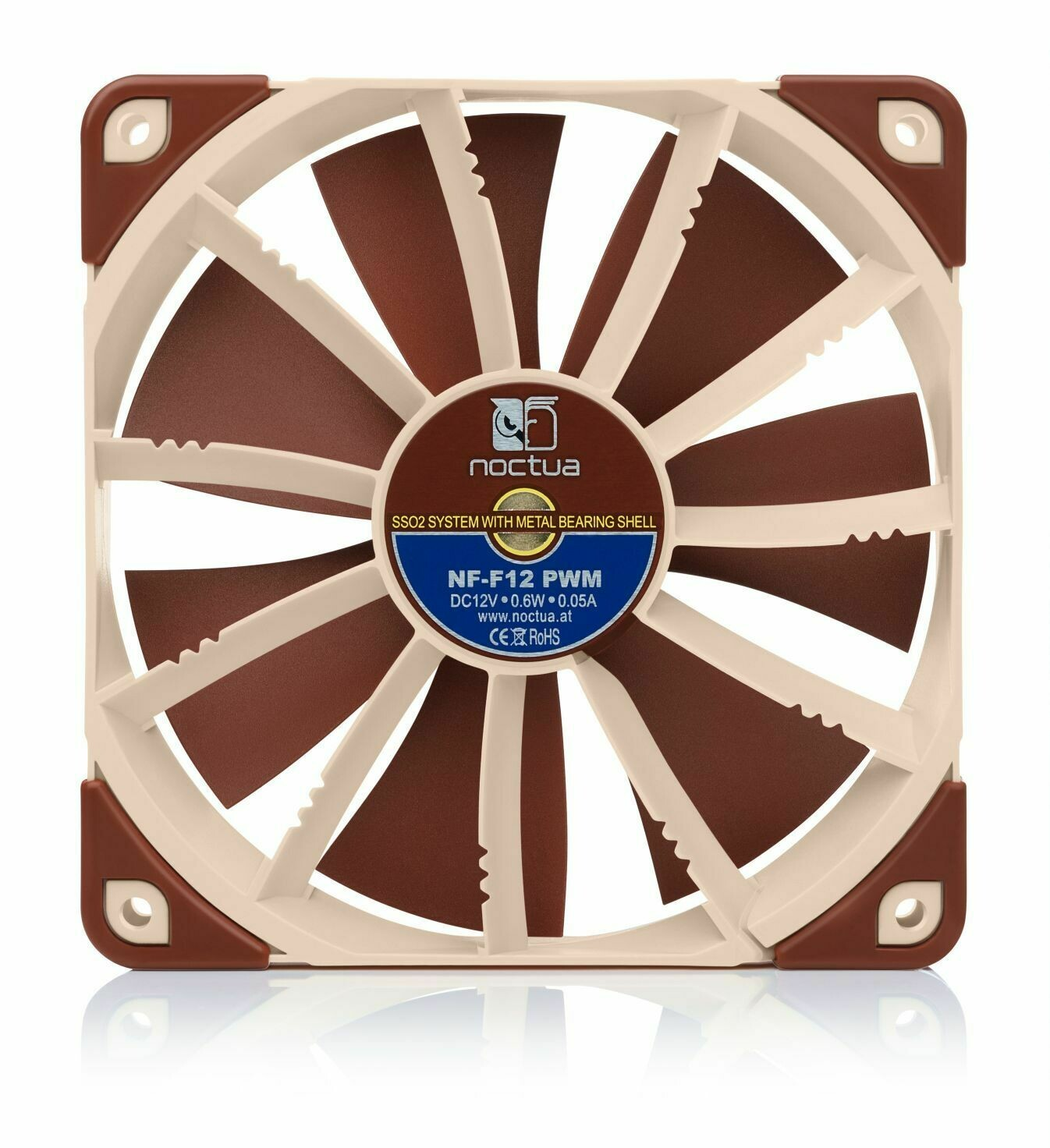 Fan NF-F12 PWM 120x120x25 mm 4pin 1500rpm avec Focused Flow SO2 Bearing de Noctua