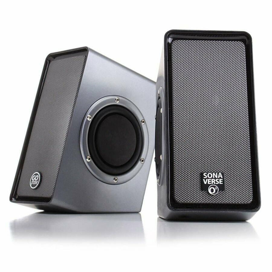 Haut-parleurs SonaVERSE 02 alimentés par USB avec woofers passifs à double déclenchement latéral de GOgroove