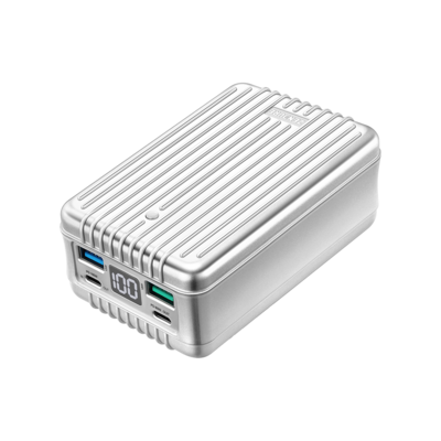 Chargeur portable  SuperTank - 27000 mAh 100W Desigh épuré antichocs (argent) de Zendure