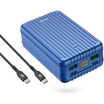 Chargeur portable  SuperTank - 27000 mAh 100W Desigh épuré antichocs (bleu) de Zendure