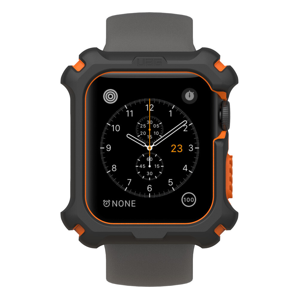 Bumper Case Noir/Orange pour Apple Watch Series 5/4 44mm de UAG
