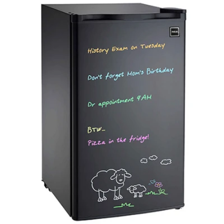 Réfrigérateur à tableau effaceur à sec de 3,2 pi3 avec marqueurs au néon de RCA