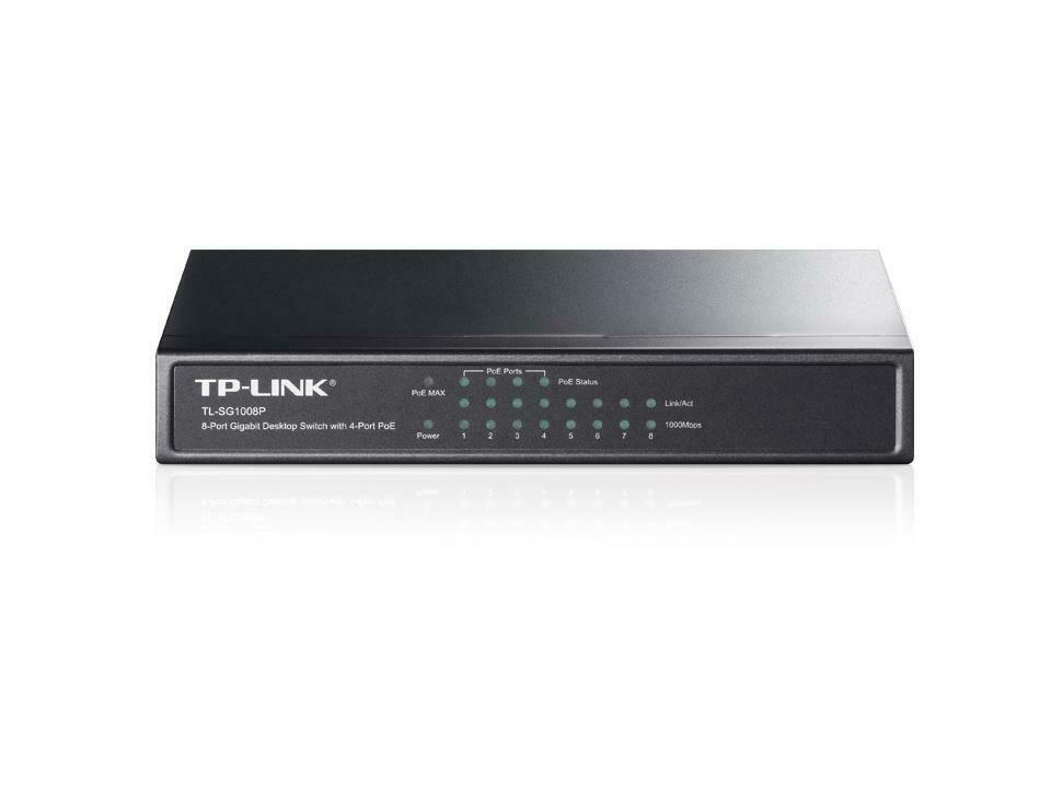 Switch 8port 4port PoE TL-SG1008P de TP-link