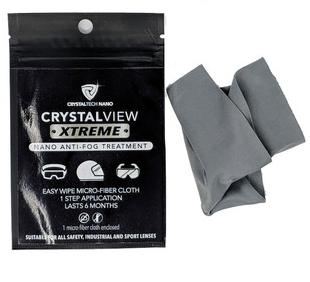 Tissu Xtreme Nano Anti Brouillard Gris/Noir de Crystalview