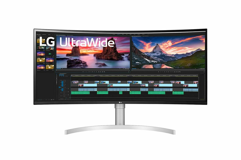 Moniteur incurvé LG UltraWide QHD+ IPS 38WN95C-W de 38 po prenant en charge G-SYNCMC de NVIDIA de LG