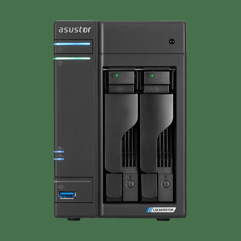 NAS 2 baies LOCKERSTOR 2 Celeron J4125/4G vive/8G flash AS6602T disque non inclue de Asustor
