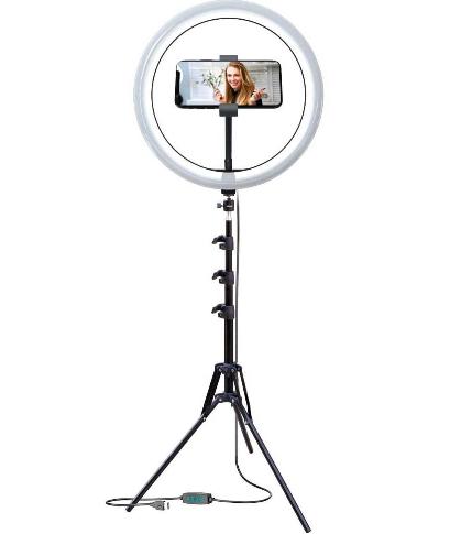 """Ensemble de studio lumineux Selfie Ring de 12 """" de  Bower"""