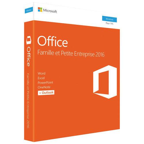 Microsoft Office Famille et Petite entreprise 2016 pour PC - Français