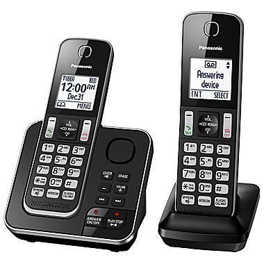 Système téléphonique sans fil numérique avec 2 combinés avec répondeur de Panasonic