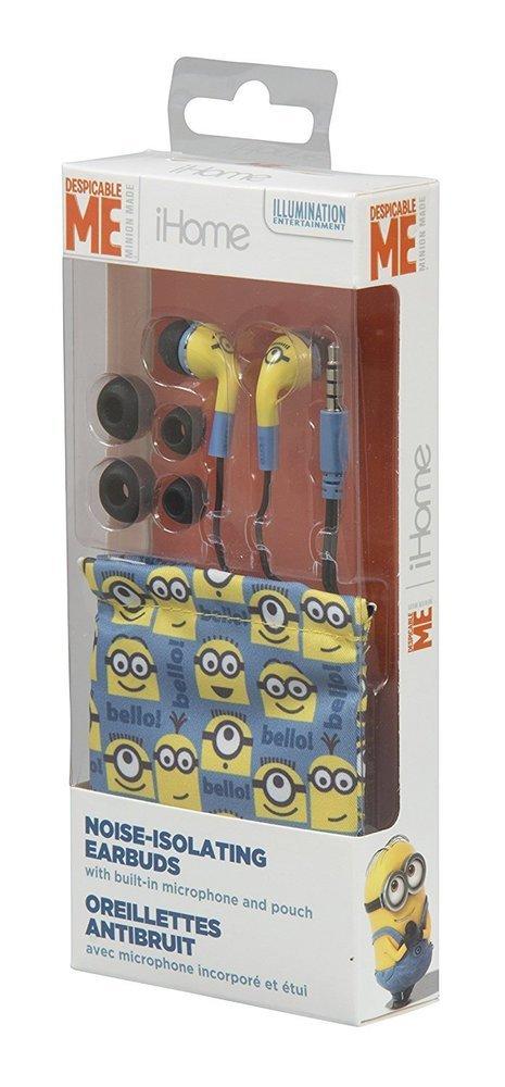 Écouteur oreillettes antibruit avec microphone intégré avec étui EKIDS Minion de Ihome