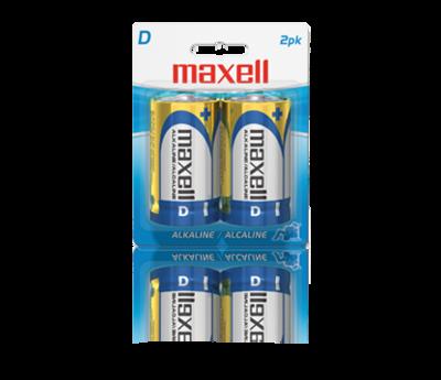 Batteries alcaline  format D paquet de 2 de Maxell