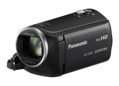 Caméscope pleine HD avec zoom intelligent 77x dans un boîtier léger HCV160K de Panasonic