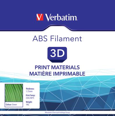Filament ABS pour imprimante 3D diamètre 1,75 mm vert 55004  de Verbatim