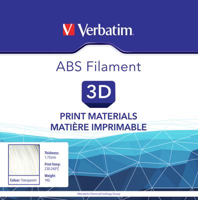 Filament ABS pour imprimante 3D diamètre 1,75 mm  transparent 55005 de Verbatim
