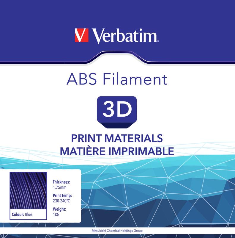 Filament ABS pour imprimante 3D diamètre 1,75 mm  bleu 55002 de Verbatim