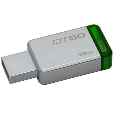 Clé USB 3.0 Data Traveler 50 16GB DT50/16GBCR de Kingston (métal/vert)