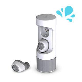 Écouteur boutons VerveOnes ME sans fil Bluetooth, blanc/gris IP54 de Motorola
