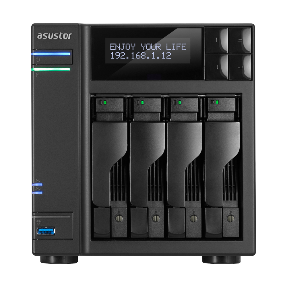 NAS 4 baies i3 3.5 GHz Dual-Core/2G AS7004T de Asustor