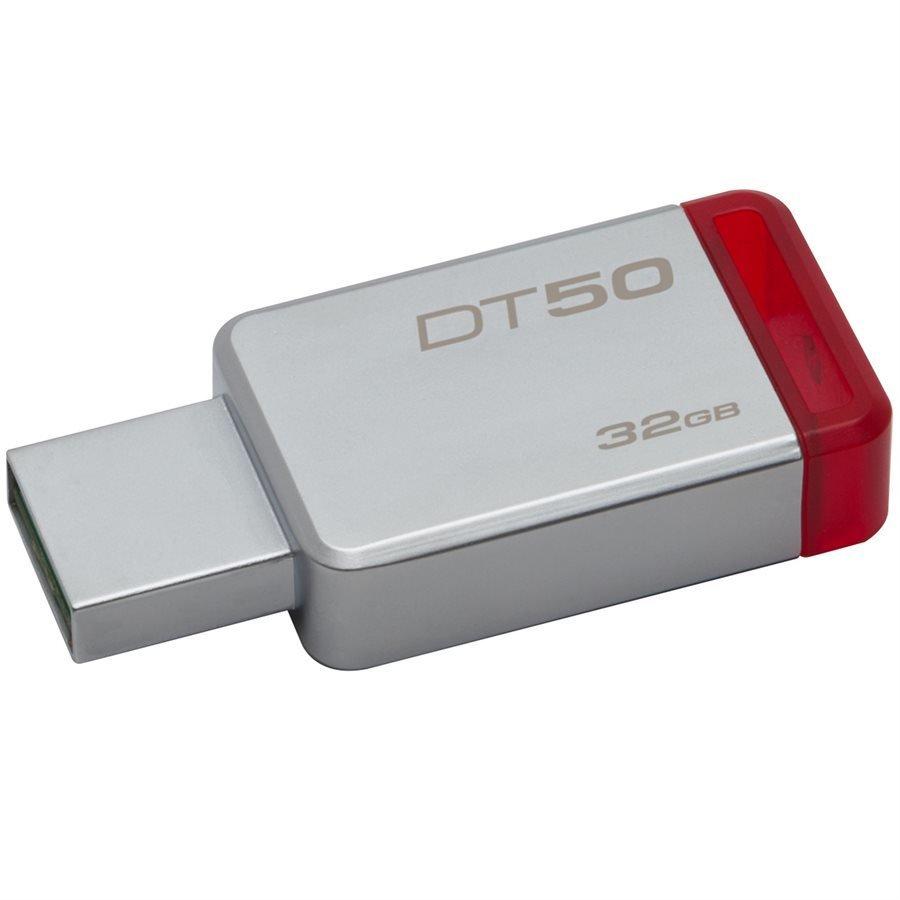 Clé USB  Data Traveler 50 32G USB 3.0 de Kingston lecture 30mo/s - écriture 5mo/s