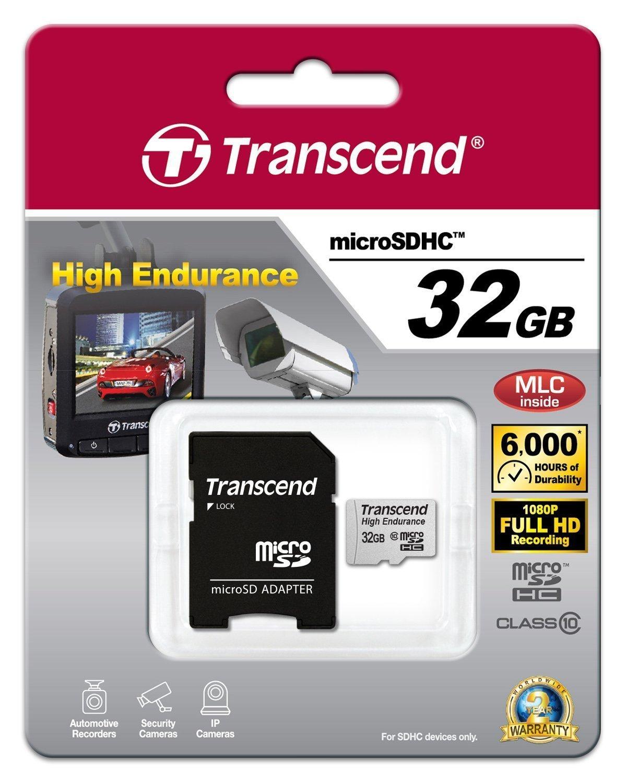 Cartes microSDXC/SDHC Haute Endurance 32G de transcend