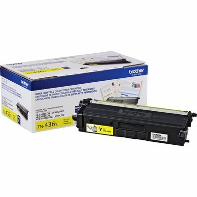 Cartouche de toner original 6500 pages jaune TN436Y de Brother