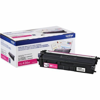 Cartouche de toner original 6500 pages magenta TN436M de Brother
