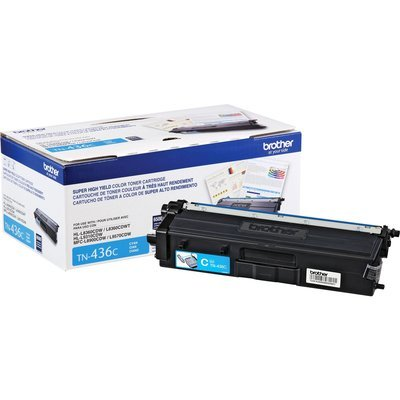 Cartouche de toner original 6500 pages cyan TN436C de Brother