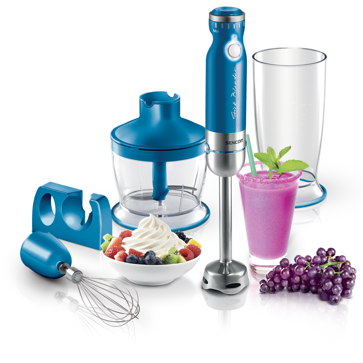 Mixeur plongeant  bleu de Sencor